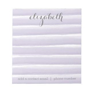 Pastel Purple & Gray Stripes Women's Office Suite Notepad