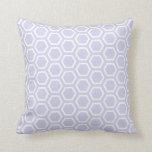 Pastel Purple Honeycomb Pattern Cushion