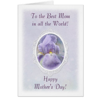 Pastel Purple Iris Mother's Day Card