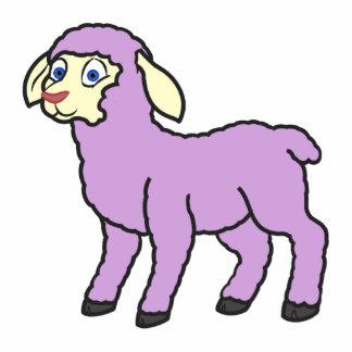 Pastel Purple Lamb Photo Sculpture Key Ring