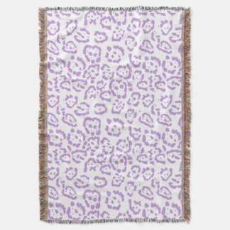 Pastel Purple Leopard Kawaii Animal Print Throw Blanket