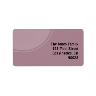pastel purple mod circle address label