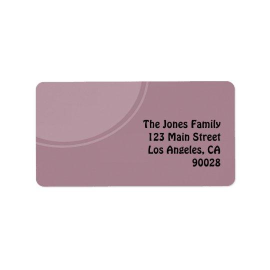 pastel purple mod circle label
