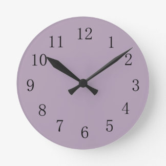 Pastel Purple Round (Medium) Wall Clock