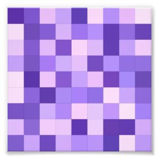 Pastel purple squares photo art