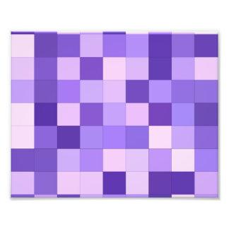 Pastel purple squares photo print