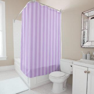 Pastel Purple Striped Shower Curtain