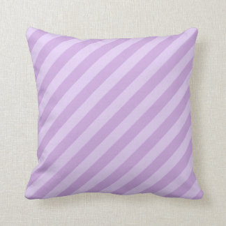 Pastel Purple Striped Throw Pillow