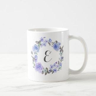 Pastel Purple Watercolor Floral | Monogram Coffee Mug
