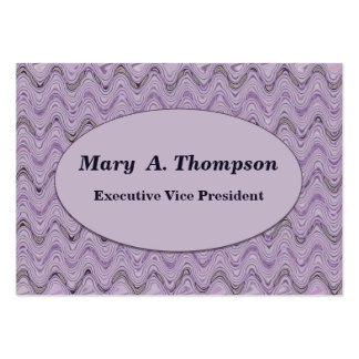 Pastel Purple Wavy Lines Large Business Cards (Pack Of 100)