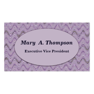 Pastel Purple Wavy Lines Double-Sided Standard Business Cards (Pack Of 100)