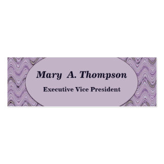 Pastel Purple Wavy Lines Double-Sided Mini Business Cards (Pack Of 20)