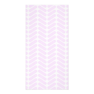 Pastel Purple Zigzag Pattern inspired by Knitting. Custom Photo Card