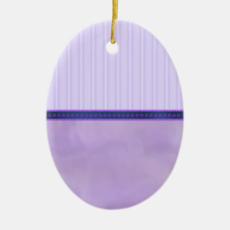 Pastel Purples Stripes and Swirls Egg Ceramic Ceramic Oval Decoration