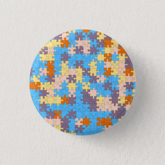 Pastel Puzzle Pattern Button