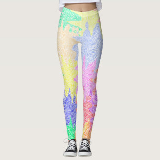 Pastel Puzzle Pieces Leggings
