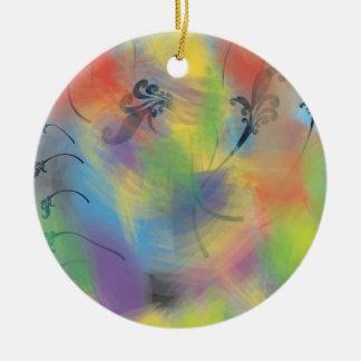 pastel q.ai round ceramic decoration