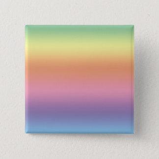 Pastel Rainbow 15 Cm Square Badge