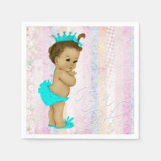 Pastel Rainbow Baby Shower Paper Serviettes