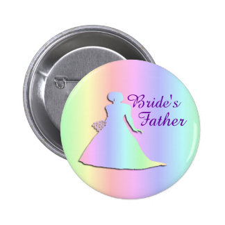 Pastel Rainbow Badge for a Lesbian Bride's Father