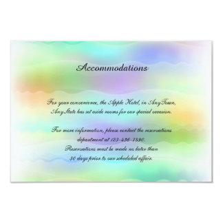 Pastel Rainbow Brides Gay Wedding Insert Card