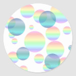 Pastel Rainbow Bubbles Round Sticker
