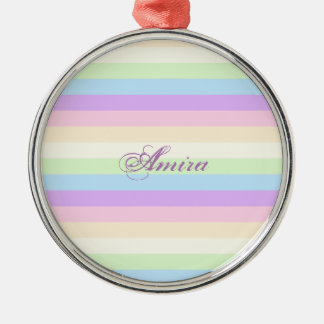 Pastel Rainbow Christmas Ornament