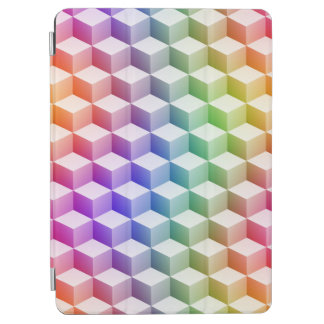 Pastel Rainbow Colored Shaded 3D Look Cubes iPad Air Cover