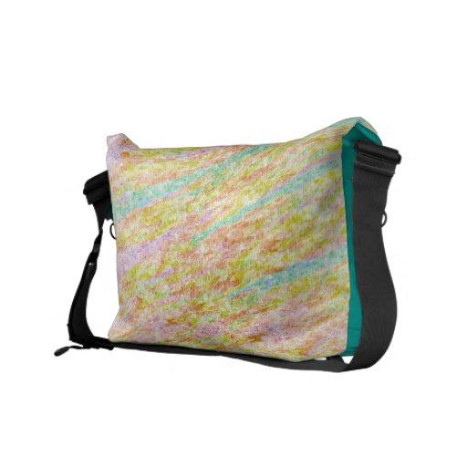 Pastel Rainbow Colours Scribbles Bags Courier Bag