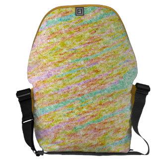Pastel Rainbow Colours Scribbles Bags Messenger Bags