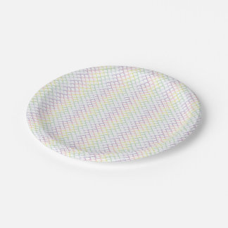 Pastel Rainbow Dragon Scales 7 Inch Paper Plate