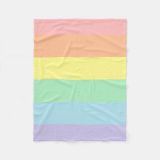 Pastel Rainbow Fleece Blanket