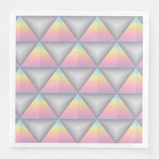 Pastel Rainbow Geometric Triangles Paper Napkins