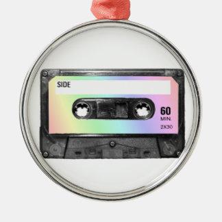 Pastel Rainbow Label Cassette Christmas Ornaments