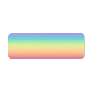 Pastel Rainbow Ombre Custom Return Address Label