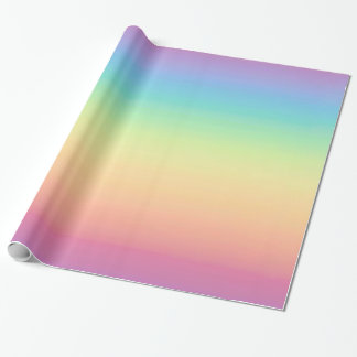 Pastel Rainbow Ombre Wrapping Paper