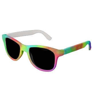 Pastel Rainbow Painted Watercolor for Summer Sunglasses