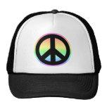 Pastel Rainbow Peace Sign Cap