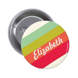 Pastel Rainbow Personalized Name 6 Cm Round Badge