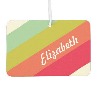 Pastel Rainbow Personalized Name Car Air Freshener