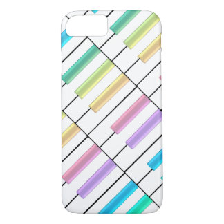 Pastel Rainbow Piano Keys Music iPhone 7 Case