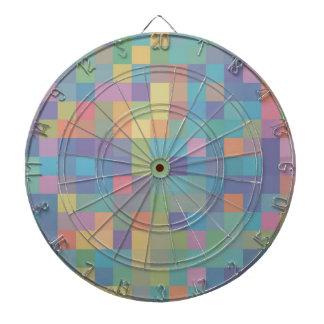 Pastel Rainbow Pixel Pattern Dartboard