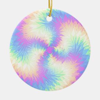 Pastel Rainbow Pompom Christmas Ornaments