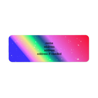 Pastel rainbow return address return address label