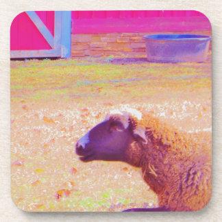 Pastel Rainbow Sheep Drink Coaster