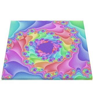 Pastel Rainbow Spiral Canvas Art