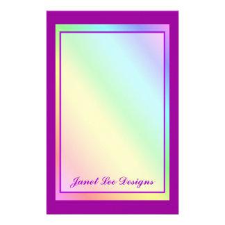 Pastel Rainbow Stationery Custom Stationery