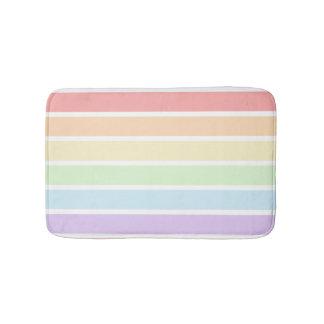 Pastel Rainbow Striped Bath Mats