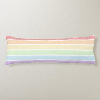 Pastel Rainbow Striped Body Pillow
