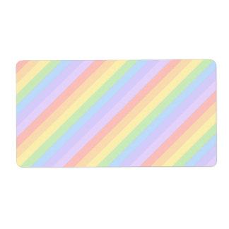 Pastel Rainbow Stripes.